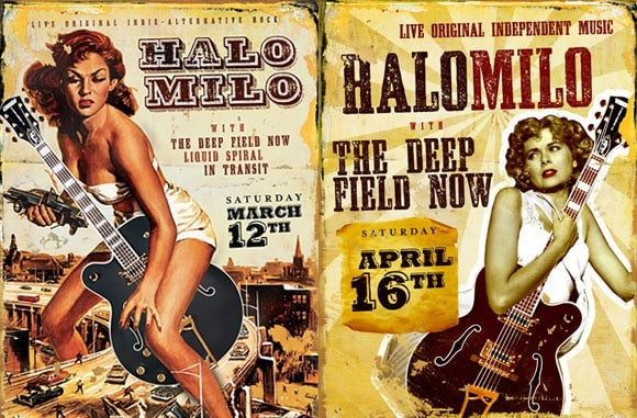 Halo Milo: Event Posters
