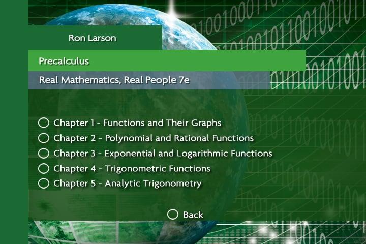 Larson Precalculus Real Math, 7e - Orlando - FL - Florida | iQuarius